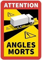 Angles Morts sticker danger blind spot sticker