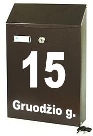 Lipdukas ant pasto dezutes adresas gatves pavadinimas ir namo numeris