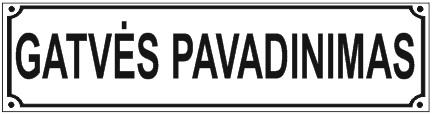 gatves pavadinimo lentele lipdukas