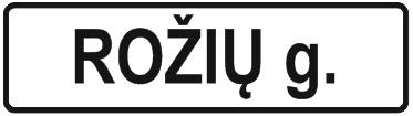lipdukas gatves pavadinimas gatves lentele