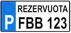 rezervuota parkingo lipdukai vardiniai numeriai lipdukas plastikas